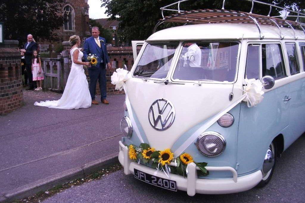 1996 VW Campervan Wedding Car